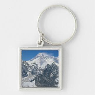 Nepal, Himalaya, vista de Mt Everest de Gokyo Llavero Cuadrado Plateado