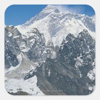 Nepal, Himalaya, vista de Mt Everest de Gokyo Pegatinas Cuadradases Personalizadas