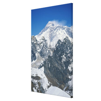 Nepal, Himalayas, view of Mt Everest from Gokyo Stretched Canvas Prints
