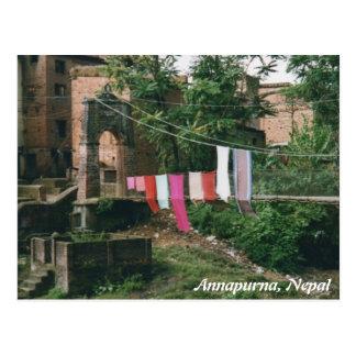 Nepal Kali bridge postcard