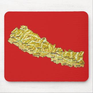 Nepal Map Mousepad