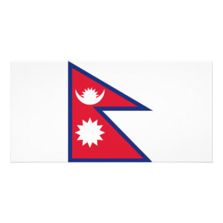 Nepal National Flag Photo Greeting Card