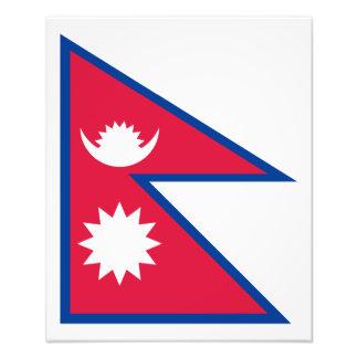 Nepal – Nepali Flag Photo Print