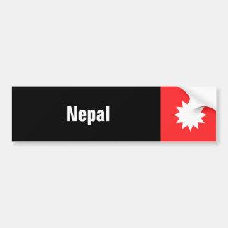 Nepal Pegatina De Parachoque