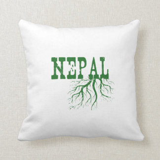 Nepal Roots Throw Pillow