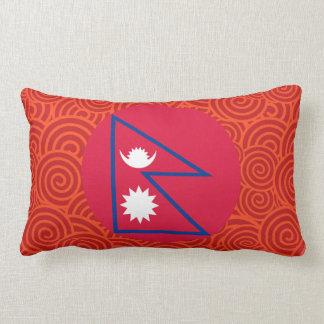 Nepal round flag throw pillow