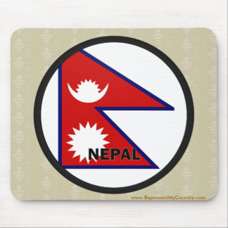 Nepal Roundel quality Flag Mouse Pad