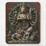Nepalés talló a dios de madera tapete de raton