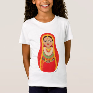 Nepalese Bride Matryoshka Girls Baby Doll (Fitted) T-Shirt