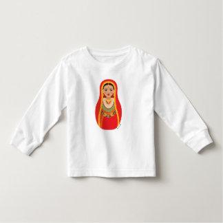 Nepalese Bride Matryoshka Toddler Long Sleeve Toddler T-shirt