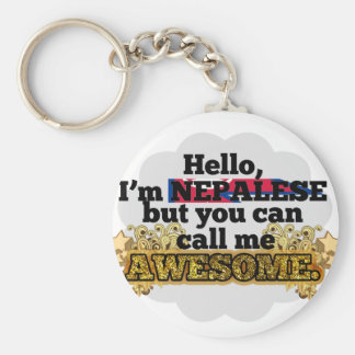 Nepalese, but call me Awesome Basic Round Button Keychain