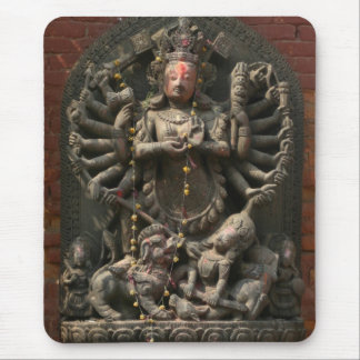 Nepalese Carved Wood God Mouse Pad