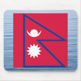 Nepalese Flag Floating on water Mouse Pad