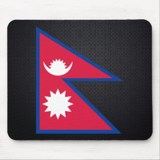 Nepalese flag mouse pad