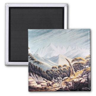 Nepalese Herdsmen in the Himalayas, 1826 Refrigerator Magnet
