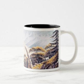 Nepalese Herdsmen in the Himalayas, 1826 Two-Tone Coffee Mug