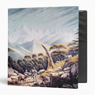 Nepalese Herdsmen in the Himalayas, 1826 Vinyl Binder