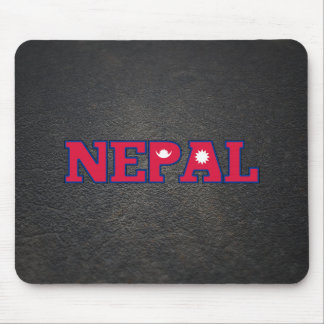 Nepalese name and flag mouse pad