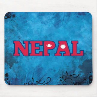 Nepalese name and flag on cool wall mouse pad
