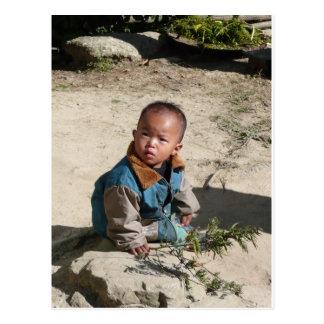 Nepali boy postcard