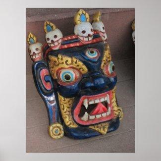 Nepali Deity Mask Poster