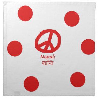 Nepali Language And Peace Symbol Design Cloth Napkin