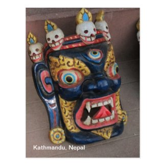 Nepali Mask Post Card
