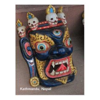 Nepali Mask Post Card