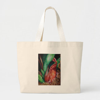 Nepenthes Of Borneo Watercolor Art Large Tote Bag