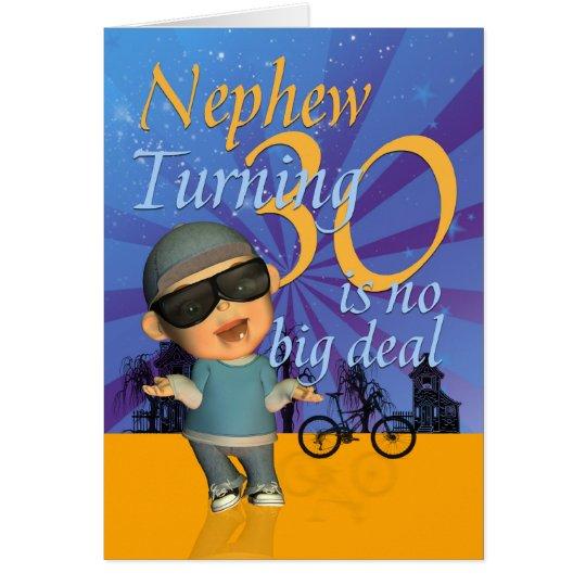 Nephew 30th Birthday Card Cute Dude – Birthday Card Nephew