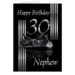 Nephew - 30th Birthday Card Motorbike