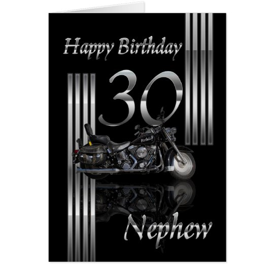 Nephew 30th Birthday Card Motorbike – 30th Birthday Card