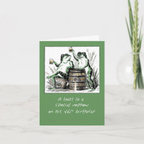 Nephew 46th Birthday Frogs Toasting with Beer Card