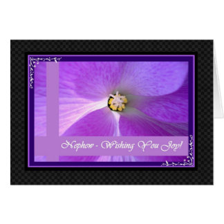 NEPHEW and NEW WIFE  Wedding Congratulations Greeting Card