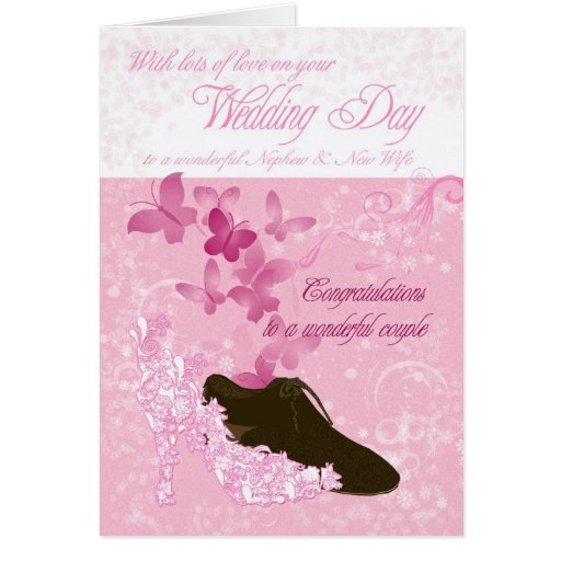 Wedding Gifts For Nephew : Nephew and new wife wedding day congratulations card Zazzle