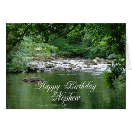 Nephew birthday card showing a river