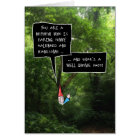 Nephew Birthday, Humorous Gnome in Forest Card