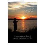 Nephew Birthday, Sunset Fishing Silhouette Greeting Card