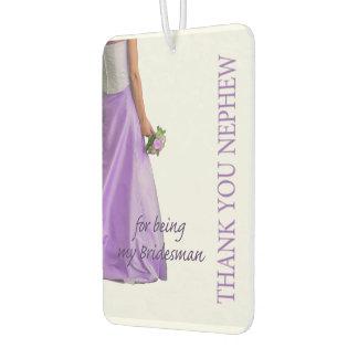 Nephew Bridesman thank you Air Freshener
