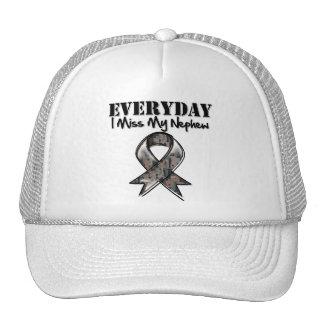 Nephew - Everyday I Miss My Hero Military Trucker Hats