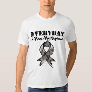 Nephew - Everyday I Miss My Hero Military Shirt