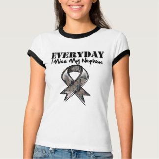Nephew - Everyday I Miss My Hero Military T-shirts