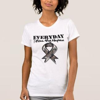Nephew - Everyday I Miss My Hero Military Tshirts