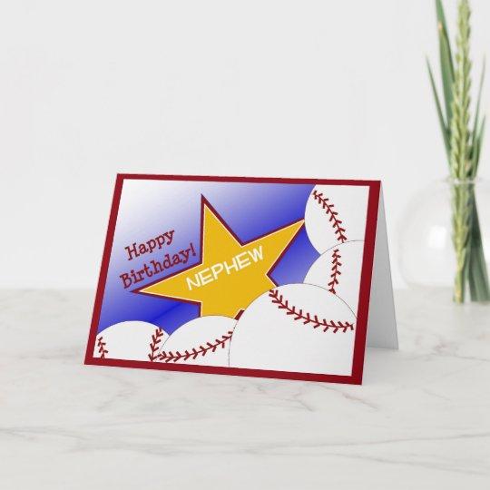 Nephew Happy Birthday Baseball Loving Nephew Card Zazzle