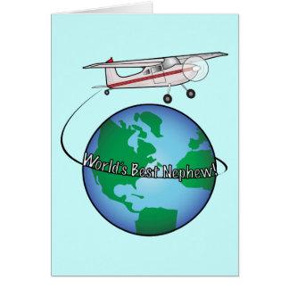 Nephew Happy Birthday with Airplane Card