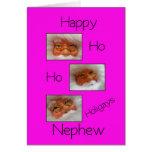nephew happy ho ho holigays gay x-mas card