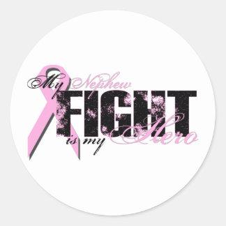 Nephew Hero - Fight Breast Cancer Classic Round Sticker