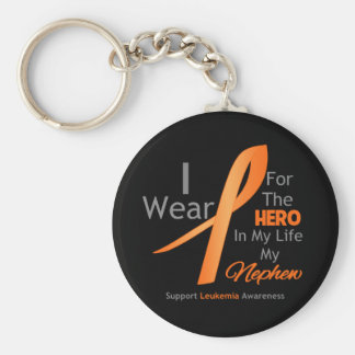 Nephew - Hero in My Life - Leukemia Basic Round Button Keychain