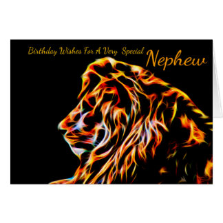 Nephew Lion Fractal  Greeting Card