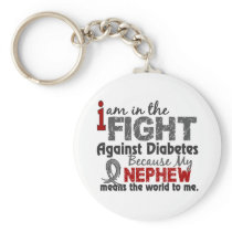 Nephew Means World To Me Diabetes Keychain